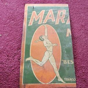 Vintage marathon sign